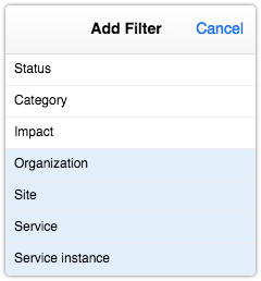 Adding a filter to a request report