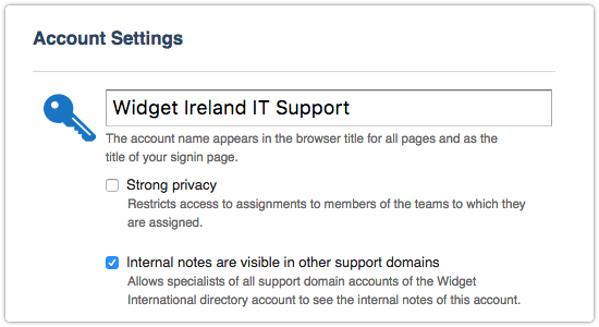Internal notes are-visible in other support domains