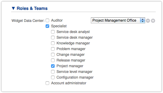 Assigning the ITRP Project Manager Role