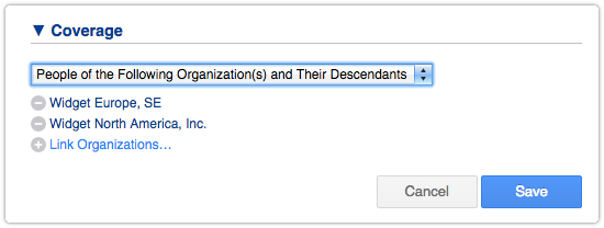 SLA Coverage Option - People of the Following Organization(s) and Their Descendants