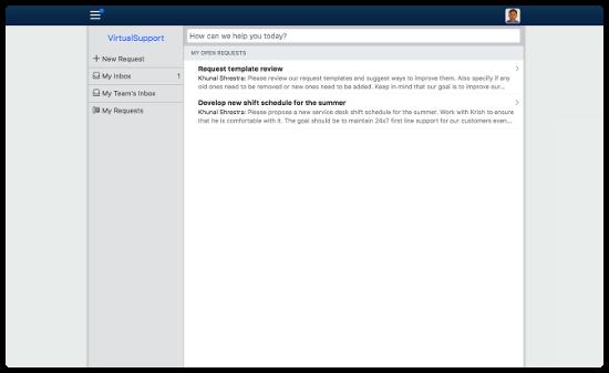 Default Self Service homepage design
