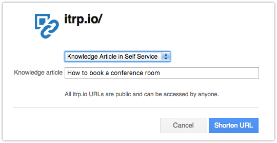 Short URL for ITRP Knowledge Article QR Code