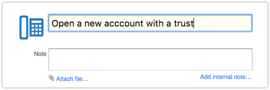 Subject automatically filled out in new request