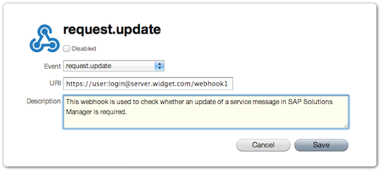 Webhook Description field