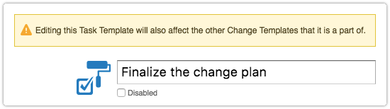 Different warning when task is opened from a change template's Gantt chart